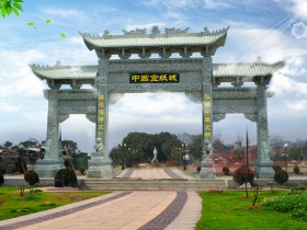 农村流行的门楼图片大全-经典石头大门图片-最好的门楼厂家