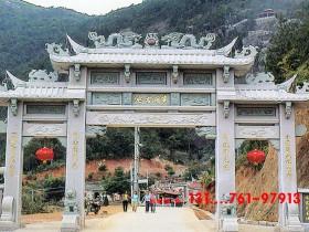浙江农村牌楼和广东村口石牌楼图片样式大全